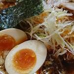幸楽苑 - 醤油らーめん+煮卵+千ねぎ(アップ):醤油らーめんミックスセット