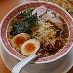 幸楽苑 - 醤油らーめん+煮卵+千ねぎ:醤油らーめんミックスセット