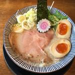 だしと麺 - とろとろ鶏と鯛の熟玉そば〜(*^▽.^*)/¥862円+税