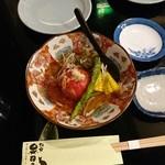 68889487 - トマトとジュンサイととうもろこしの前菜