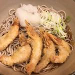 名代 箱根そば - 料理写真:冷やし芝エビ天そば(500円)
