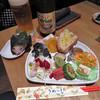 藍風珈琲店 - 料理写真:本日の己書プレート2017.6