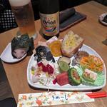 藍風珈琲店 - 本日の己書プレート2017.6