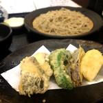 櫻庵 - カンパチと野菜の天せいろ