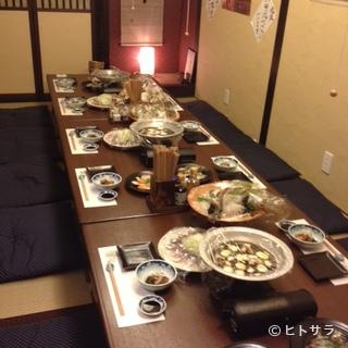 大小さまざまな宴会が可能。団体様用個室あり。