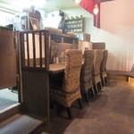 和創dining 和ん - 女性シェフが和風の出汁を活かした様々な料理を楽しませてくれる店内はゆったりとした空間で心が落ち着く店内です。