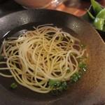 和創dining 和ん -  先ずはにゅう麺をいただいて出汁の美味しさを味わいました。