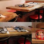 味坊鉄鍋荘 - 全てのテーブル席に鍋があります