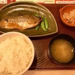 ガスト - さばの味噌煮朝定食