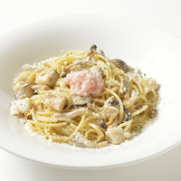 イタリア食堂 クッチーナ - 北海道産たらこ 帆立 キノコのクリームソース