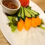 肉バル MEATBOY N.Y - 有機野菜の肉味噌ディップ 680円