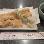 手打ちそば まつや - 「穴子の天ぷら」