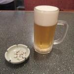 手打ちそば まつや - 生ビール