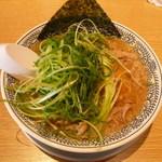 丸源ラーメン - ねぎ肉そば842円
