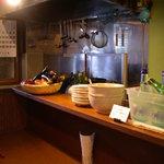 米蔵 - 新しいこともあり、厨房は清潔です。