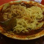 双龍居 - 牛肉の四川風煮込み(具を食べた後、卵麺)