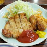 味処いちむら - ポークソテー定食(950円)のポークソテー