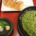 8番らーめん - 料理写真:能登中島菜ざる餃子セット
