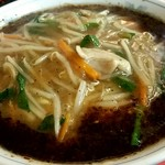永楽 そば店 - もやしそば850円‼スープの黒いのは揚げネギです‼