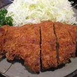 豚珍館 - トンカツ定食(アップ)