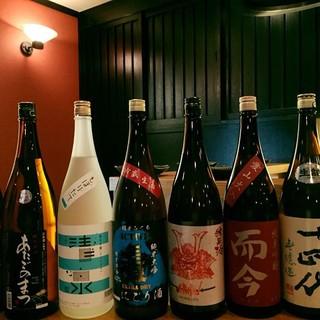旬の食材に合わせた日本酒とワイン