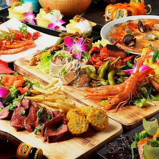 ★南国バルスタイルのハワイアン料理を提供