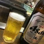 圓 - ビールを呑みつつ、見事な手際を見ます。