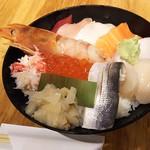 ハレの日食堂 - 1706_ハレの日食堂_海鮮丼@1,780円 甘海老、蟹、サーモン、タコ、いくら、イカ、ぶり、ホタテ