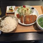 gyuutanyakitodategohandatenariya - 牛タンメンチカツ定食、880円