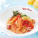 ジョリーパスタ - 料理写真:贅沢いくらと明太子の冷製カッペリーニ¥1,190+税