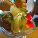 68915165 - *桃自体も甘くて美味しいですね。