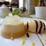 ルガノ - デザート  2層のババロアとアイス