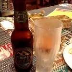 ヒマラヤダイニング - リアルゴールドビール;ネタで選びました(^^;). 栄養ドリンクな味はしませんw @2017/06/17