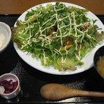 ぎをん庭 - 鮪天丼サラダ仕立て(ドリンク付)