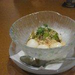 ぎをん庭 - ピンボケだ~(泣) 旬彩御膳に付いたデザートの白玉