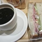 マーメイドカフェ - ハムと野菜のサンドセット