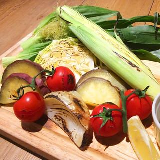 北海道より毎朝届く新鮮野菜をお召し上がりください♪