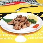 六本木ビアガーデン - 鶏ハラミの炭火焼