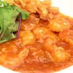 スポーティフ カフェアンドレストラン - 海老のチリソース煮