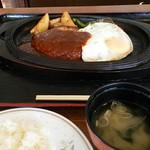 レストラン喫茶 ふじ - ジャンボハンバーグ