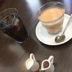 ソルビバ - 森のコーヒー アイスと、ほうじ茶チャイ