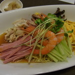 城北飯店 - 料理写真:冷やし中華は○つい夏にピッタリの○じ!(「あっさり」だけに…「あ」っ去りコメントでした)