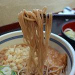 蕎麦一心たすけ - 日替わりセット(たぬき・きつねそば+納豆ごはん)500円