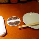 せちごぉて屋 - (2017/5月)「agito」のおしぼり、コースター、