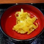 鎌倉 鶏味座 - セットのお新香