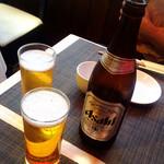 施家菜 - 瓶ビールで乾杯!