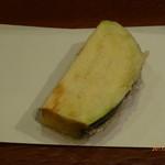 栗天 - 天ぷら:丸なす