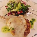 トルナヴェント - 仔羊のカツレツ タレッジョチーズ焼き