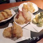 貝料理専門店 磯ばし - 貝と野菜の天ぷら盛り合わせ1人前〜