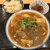 みやら製麺 - 料理写真:「カレーそば」750円+「ソーキ」100円+「じゅーしー」150円